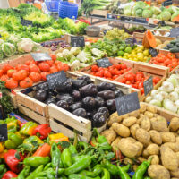 Fresh vegetables in supermarket