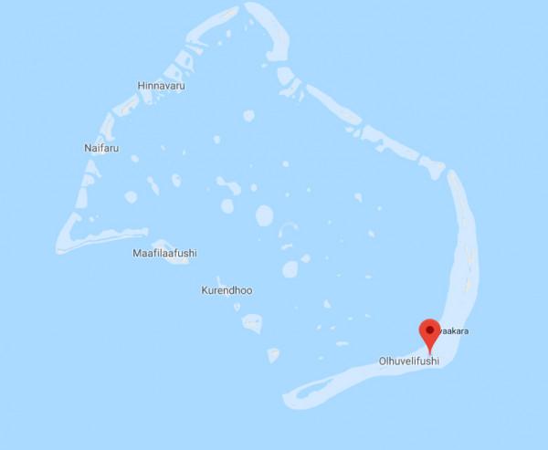Maldives island map