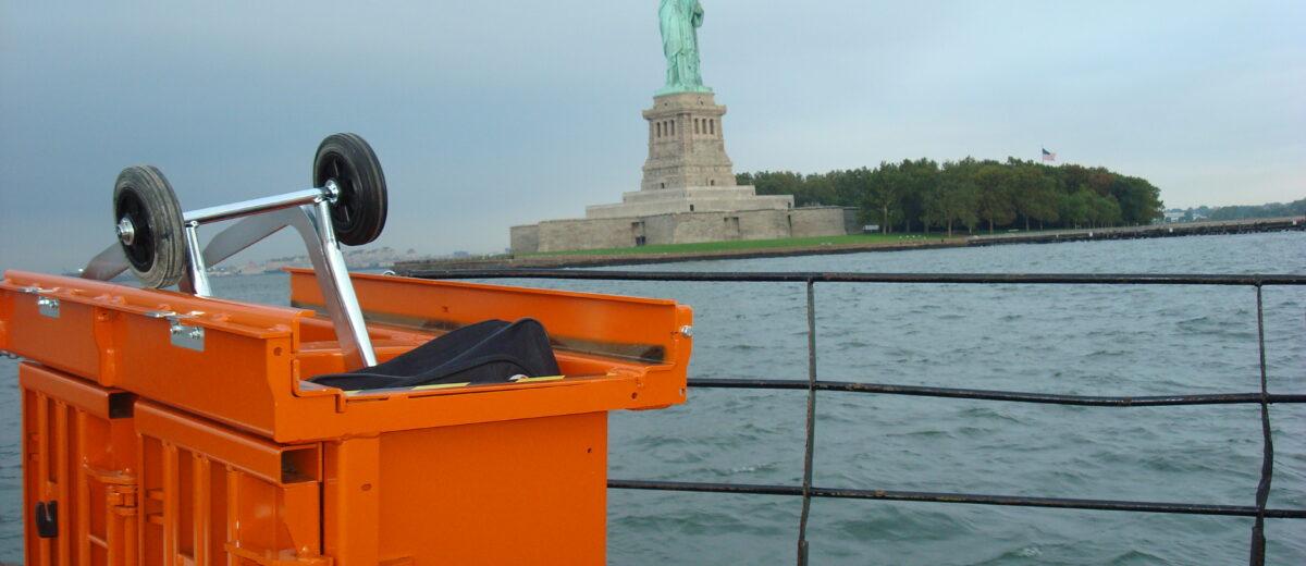 Orwak 5040 on the ferry to Libery Island