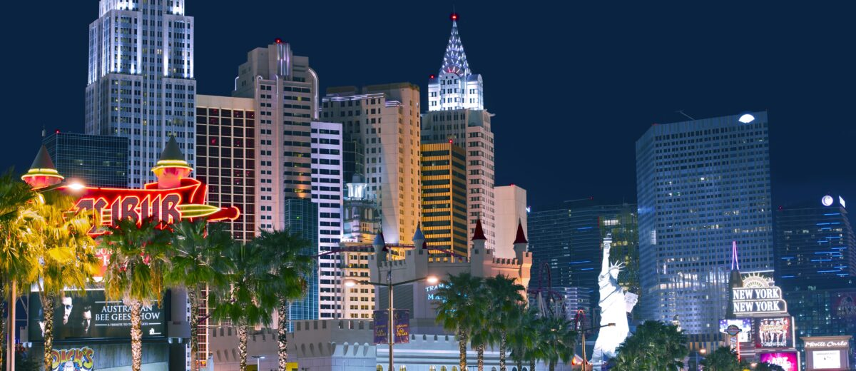 Las Vegas Strip at Night. Fabulous Las Vegas, Nevada, USA. Nevada State Photography Collection. EDITORIAL USE ONLY.