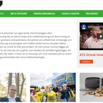 Startsida portalen