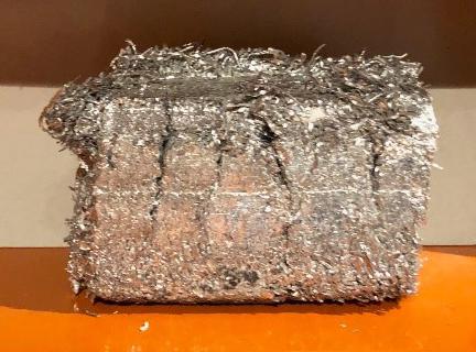 alu offcuts in briquette