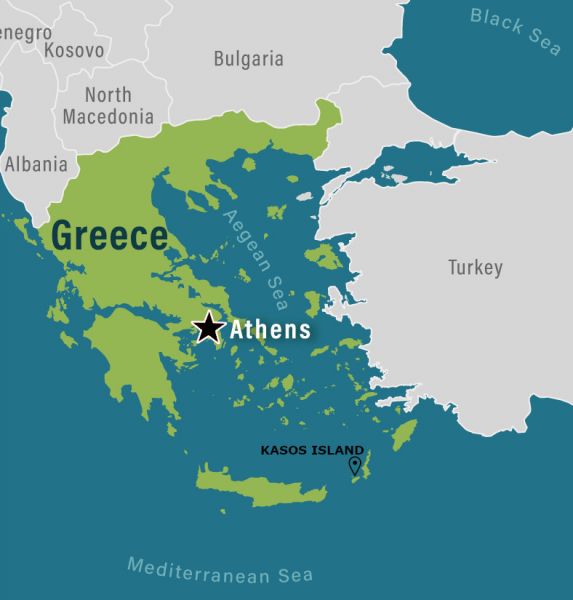 Greek map close up