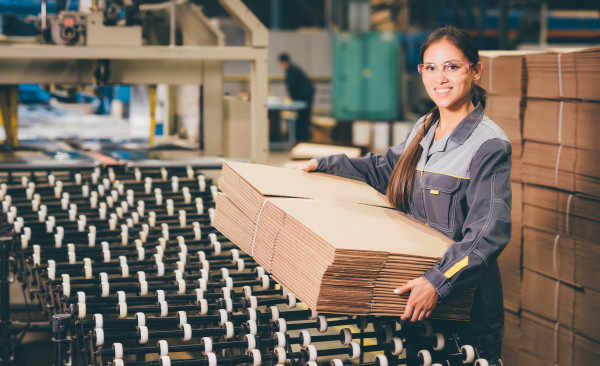Paper mill factory worker